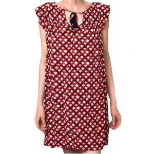 Loft Medium Casual Red short sleeve dress (B3)